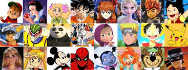 serie di immagini di cartoni animati