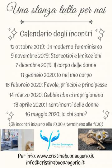 Calendario Principesse 2020.Una Stanza Tutta Per Noi Cristina Buonaugurio